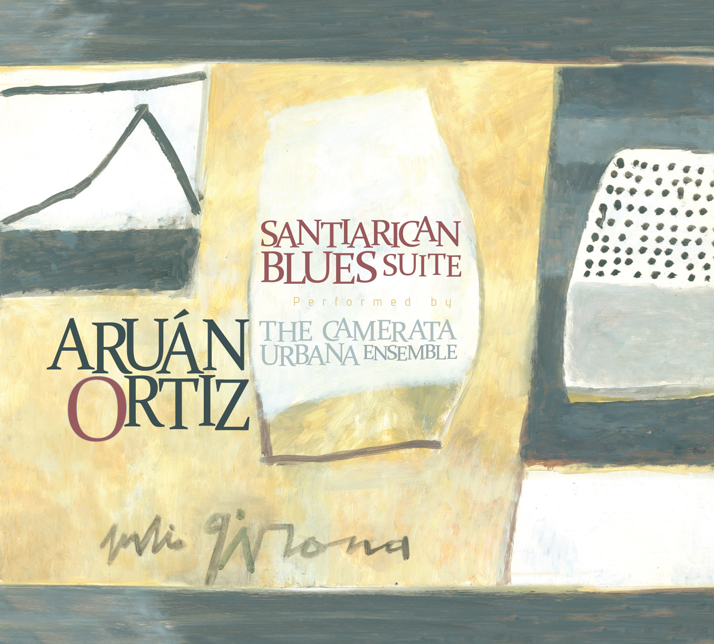 Santiarican Blues Suite by Aruan Ortiz cover